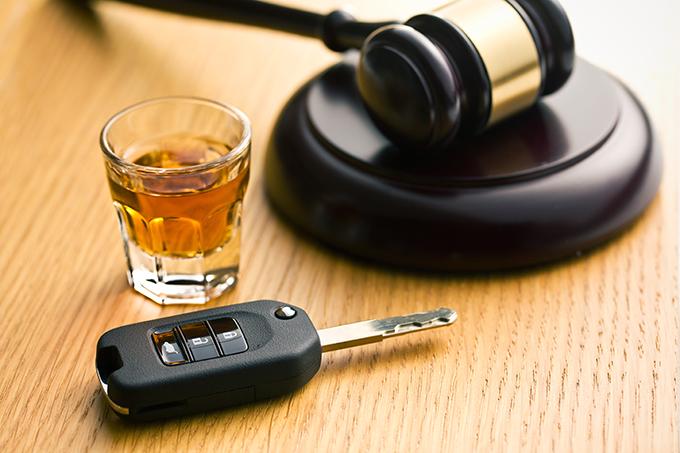 Whiskey Shot, Car Key, and Gavel