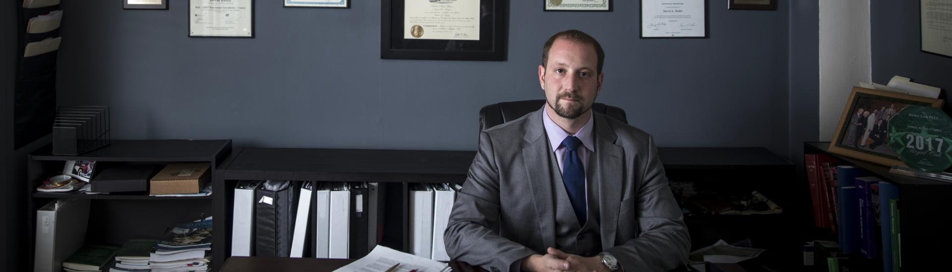 Dave Rudoi at his desk